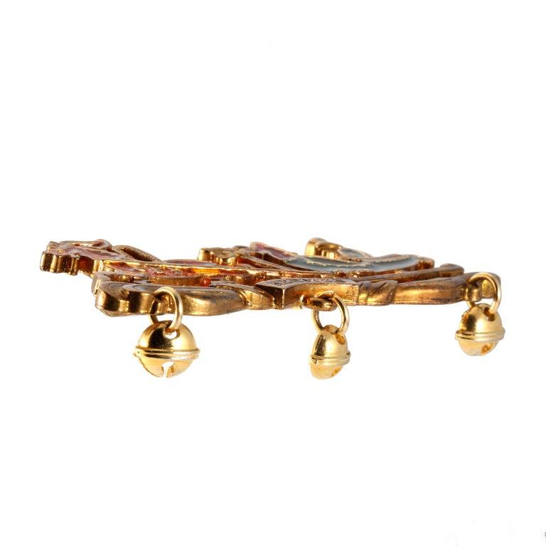 Women's or Men's  Hermès Enamel Sleigh Pin For Sale