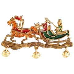Hermès Enamel Sleigh Pin