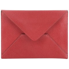 Hermes Envelope Pouch Leather Large