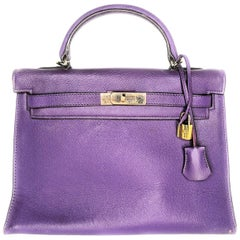 Hermès Epsom Kelly Sellier 32 Anemone Bag For Sale