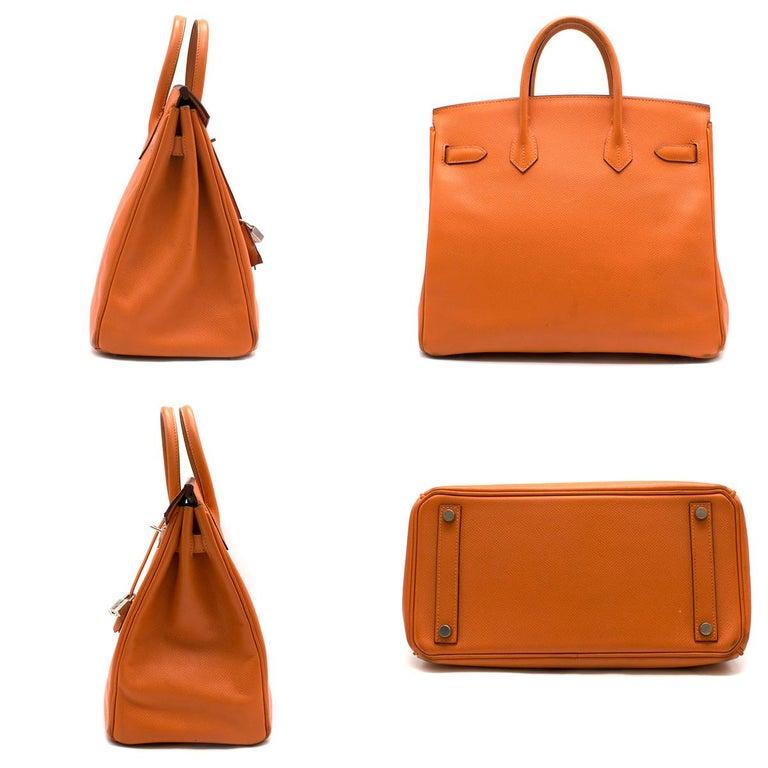 ee6e5fc2d1 Hermes Epsom Leather Feu Birkin HAC 28 Bag - Serial Number: [K] -