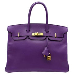 Hermes Epsom Leather Ultra Violet 35cm Birkin