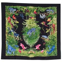 Hermes Equateur Silk Wash Scarf 90