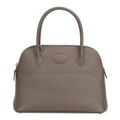 Hermes Etain Epsom Leather Bolide 27cm