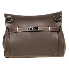 Hermes Etain Negonda Leather Jypsiere 34 Bag