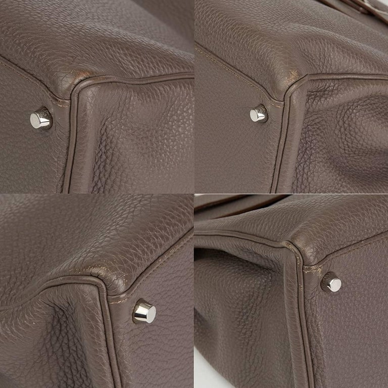 2013 Hermes Etain Togo Leather Kelly 35cm Retourne  For Sale 4
