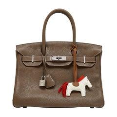 Hermès Etoupe 30cm Birkin Bag