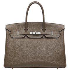 Hermès Etoupe 35cm Birkin Bag