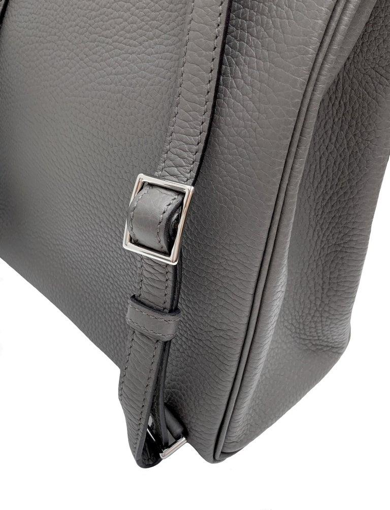 Hermès Etoupe Clémence Leather Kelly Ado II Backpack For Sale 3
