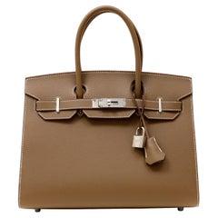 Hermès Etoupe Epsom 30 cm Birkin Sellier