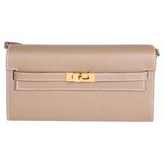 Hermès Etoupe Epsom Kelly To Go Wallet GHW