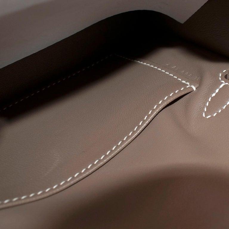 Hermes Etoupe Epsom Leather Mini Kelly Sellier II GHW For Sale 3