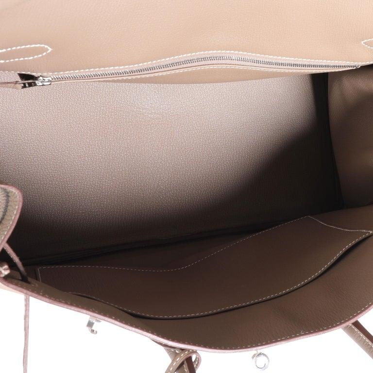 Brown Hermès Etoupe Togo Birkin 35 PHW For Sale