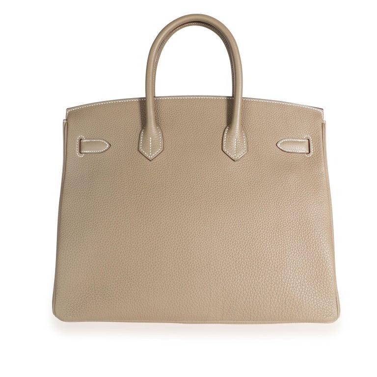 Hermès Etoupe Togo Birkin 35 PHW For Sale 1