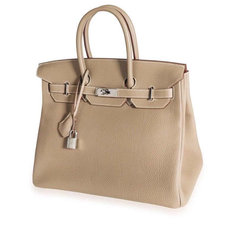 Hermès Etoupe Togo Birkin 35 PHW For Sale 3