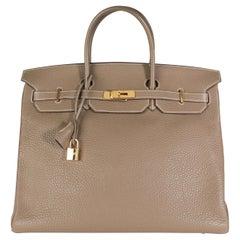Hermès Etoupe Togo Birkin 40 GHW