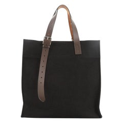 Hermes Etriviere Shopping Tote Toile and Leather