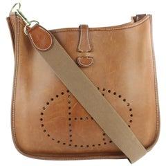 Hermès Evelyne 2hz1130 Brown Leather Messenger Bag