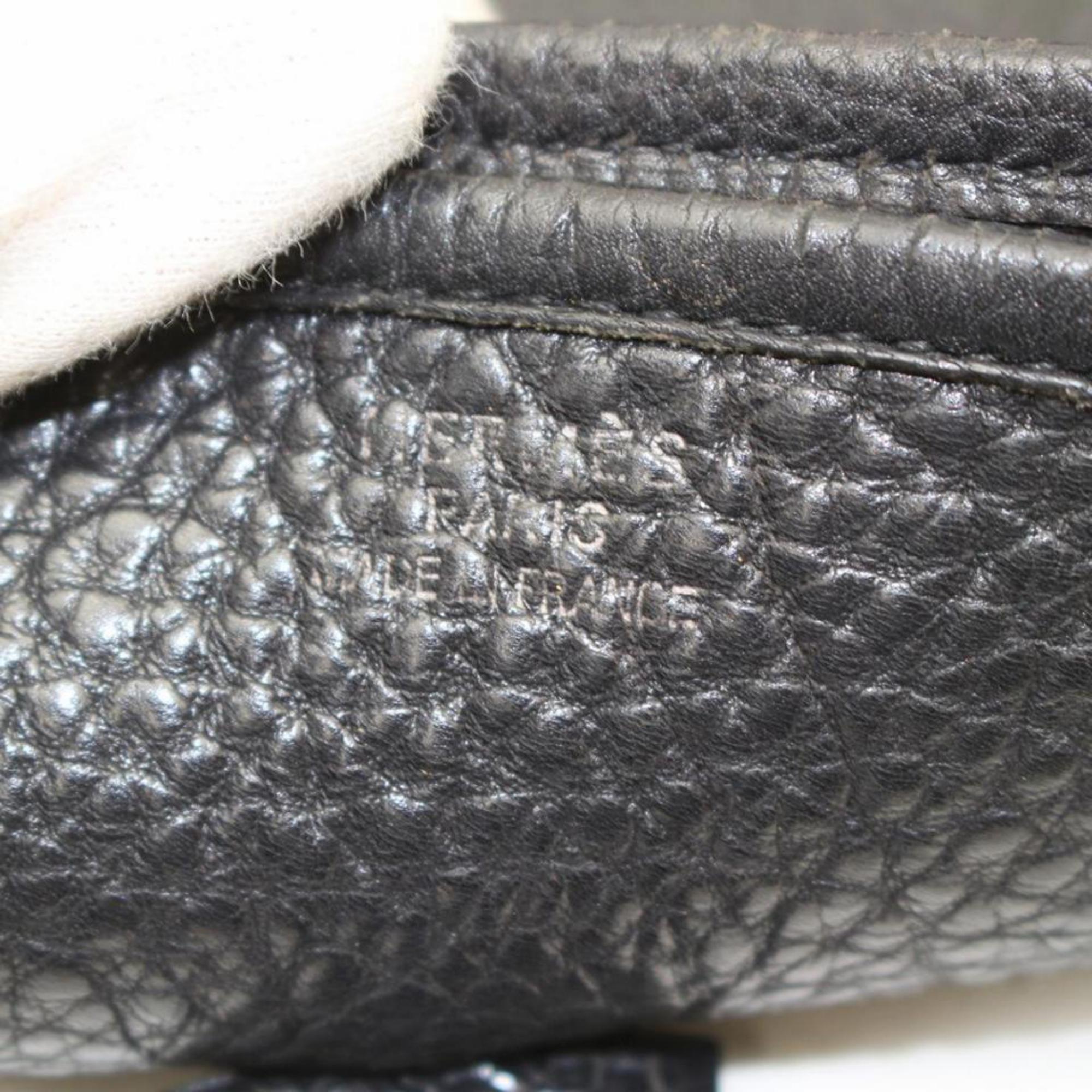 b9c3805a58a5 Hermès Evelyne 869060 Black Leather Messenger Bag at 1stdibs