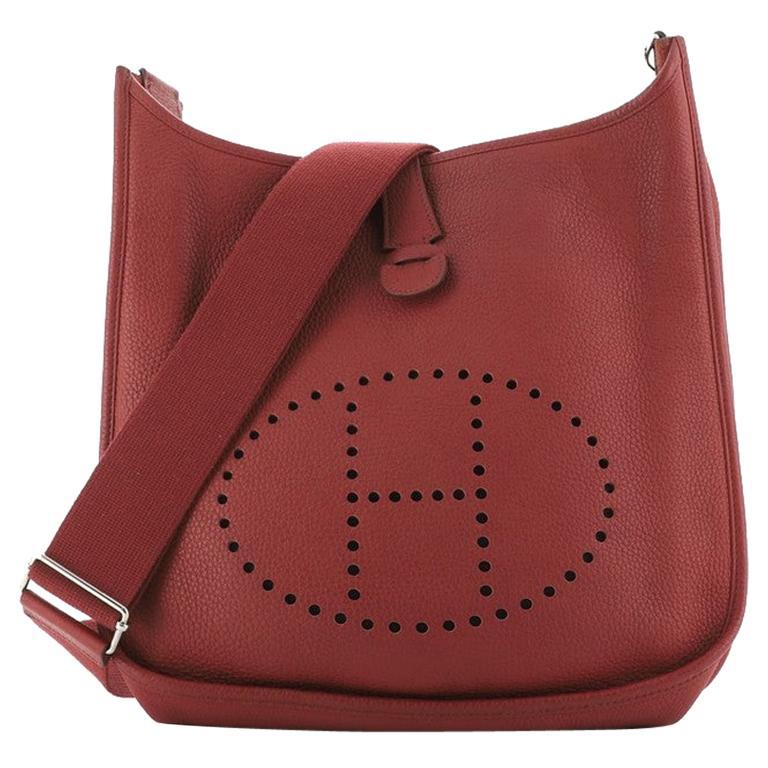 Hermes Evelyne Bag Gen III Clemence GM For Sale