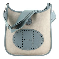 Hermes Evelyne Bag Gen III Toile and Leather PM