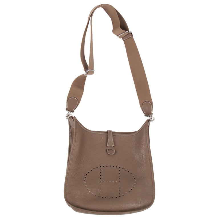 Hermes Evelyne Bag PM - taupe   Hermes Evelyne Bag PM - taupe   Hermes Evelyne For Sale