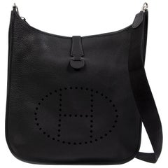 Hermès Evelyne Black TGM Bag