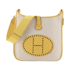 Hermes Evelyne Crossbody Gen III Toile And Leather PM
