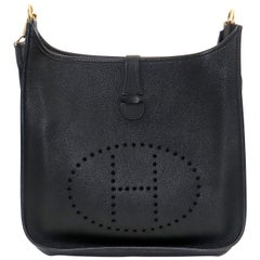 Hermès Evelyne Gm Black Ardennes Leather Cross Body Bag