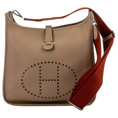 Hermes Evelyne GM Trench Sanguigne Strap Crossbody Bag