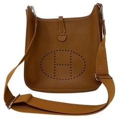 Hermes Evelyne Gold PM Crossbody Bag