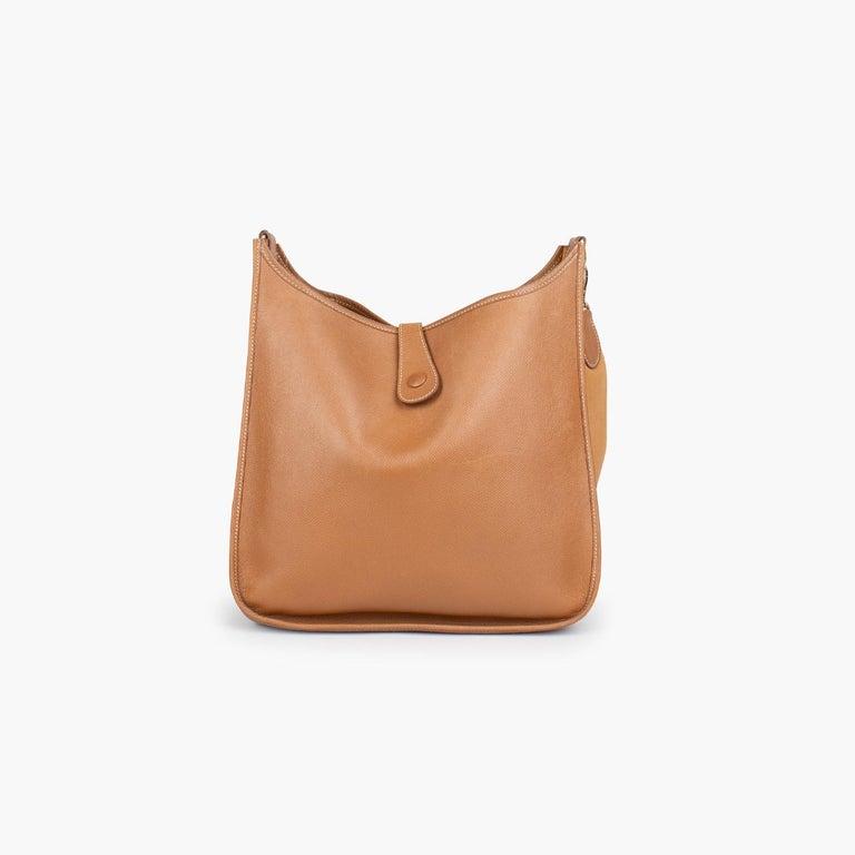 Orange Hermès Evelyne II PM Crossbody Bag For Sale