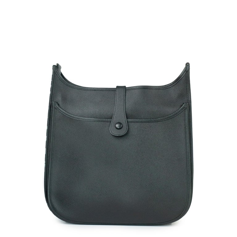 Hermès, Evelyne in black leather In Good Condition In Clichy, FR