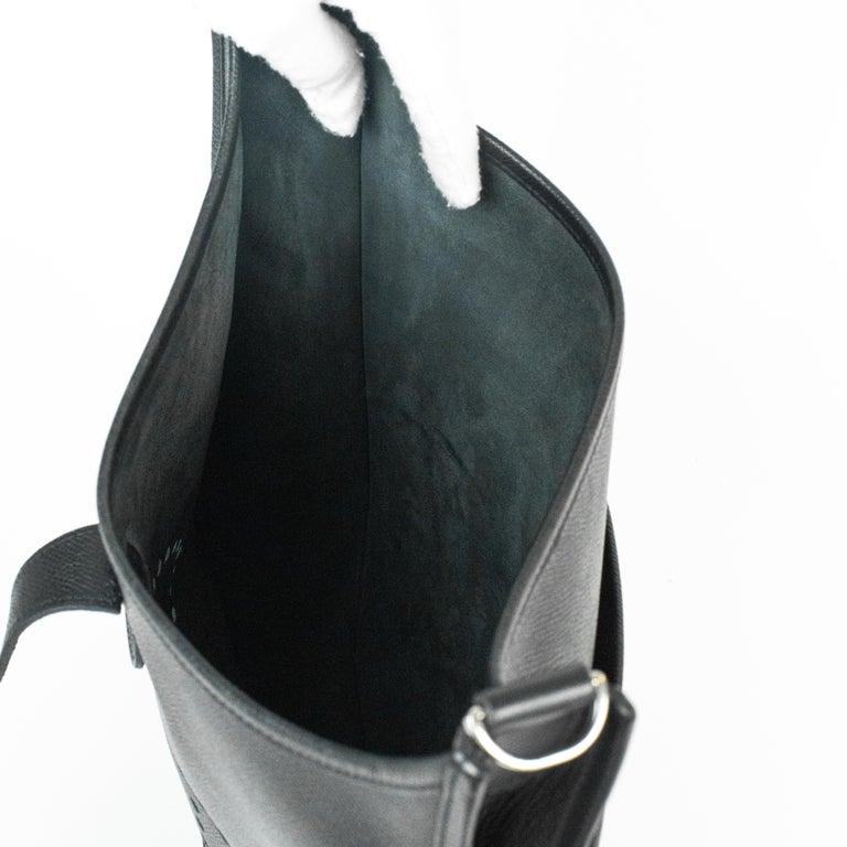Hermès, Evelyne in black leather 1