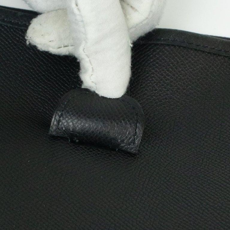 Hermès, Evelyne in black leather 3