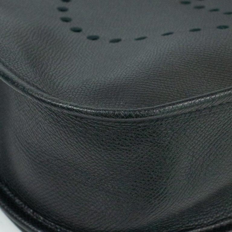 Hermès, Evelyne in black leather 4