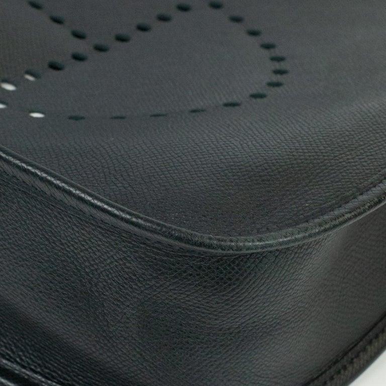 Hermès, Evelyne in black leather 5