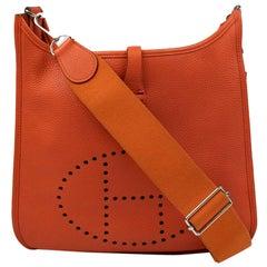 Hermès, Evelyne in orange leather