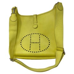 Hermes Evelyne Lime GM Bag