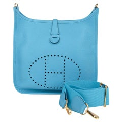 Hermes Evelyne PM Bag Blue De Nord Clemence Palladium