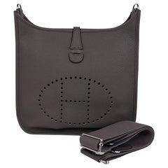 Hermes Evelyne PM Bag Etain Cross Body Clemence Leather Palladium Hardware