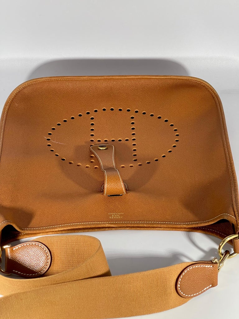 Hermès Evelyne Pm Brown Leather Cross Body Bag For Sale 6