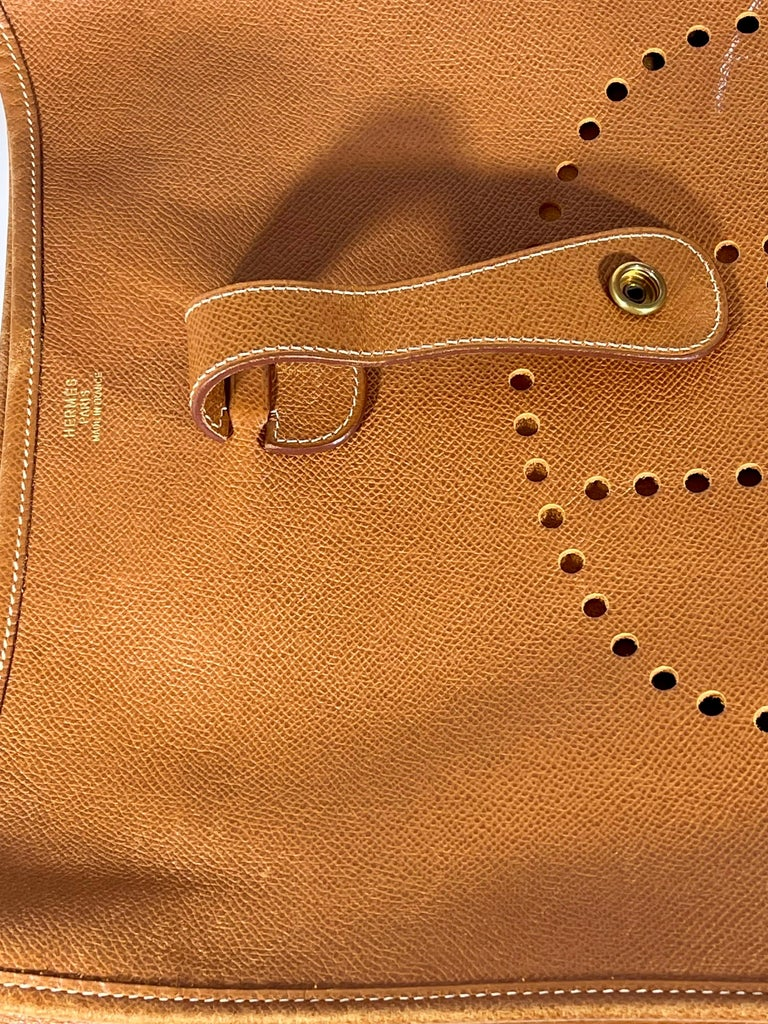 Hermès Evelyne Pm Brown Leather Cross Body Bag For Sale 7