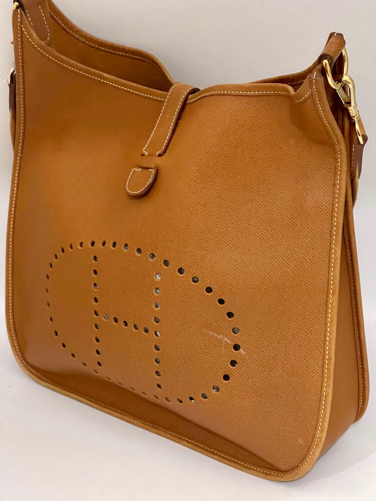 Hermès Evelyne Pm Brown Leather Cross Body Bag For Sale 9