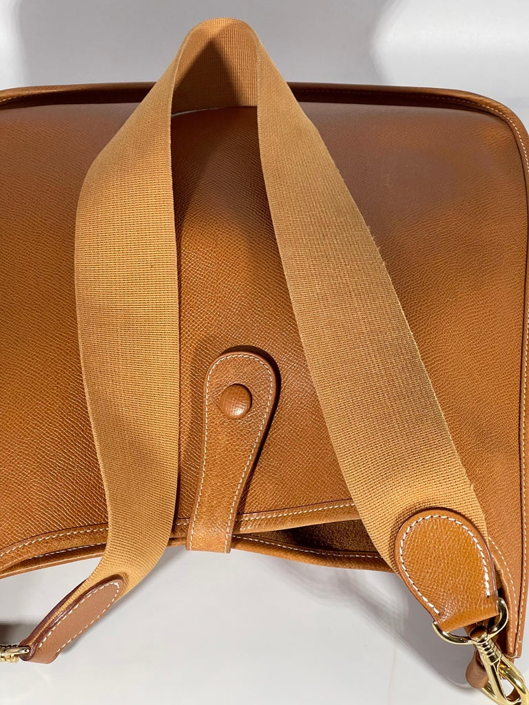 Hermès Evelyne Pm Brown Leather Cross Body Bag For Sale 10