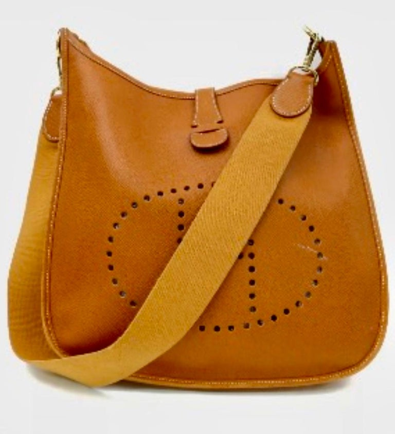 Hermès Evelyne Pm Brown Leather Cross Body Bag  Cross-Body  Black  Leather Messenger Bag  Most desirable and Convenient cross body bag  Measurements: Height 12