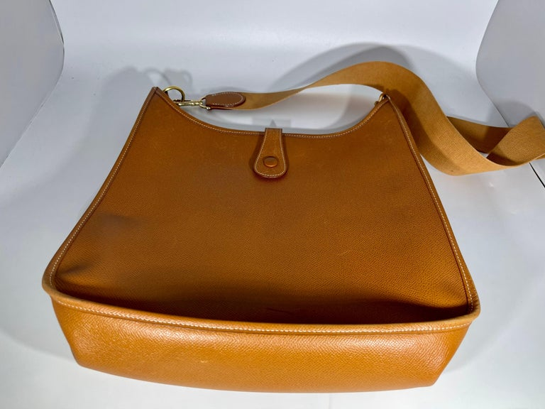 Hermès Evelyne Pm Brown Leather Cross Body Bag For Sale 2