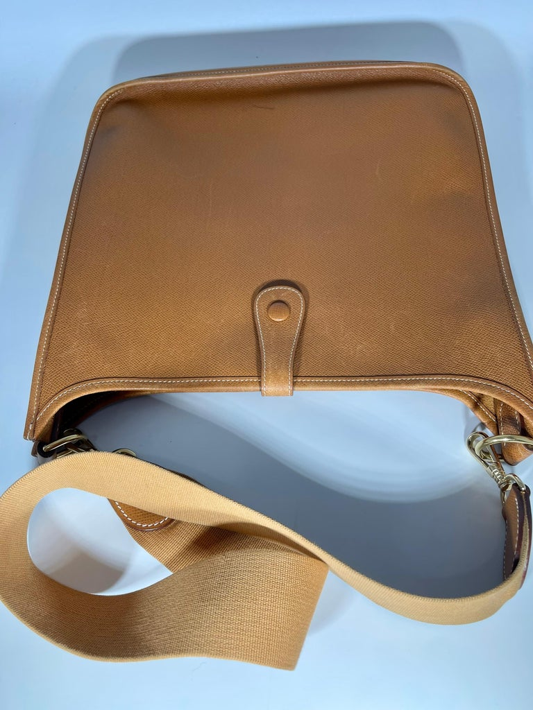 Hermès Evelyne Pm Brown Leather Cross Body Bag For Sale 3