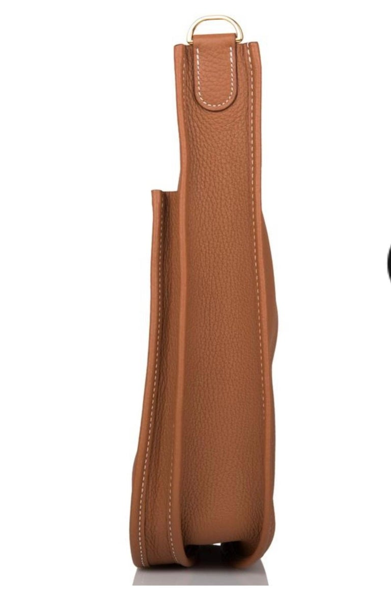 Hermès Evelyne Pm Brown Leather Cross Body Bag For Sale 4