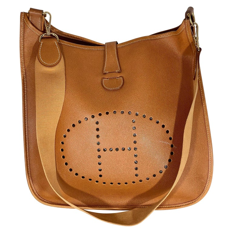 Hermès Evelyne Pm Brown Leather Cross Body Bag For Sale
